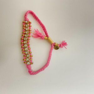 madewell crystal bracelet in hotpink